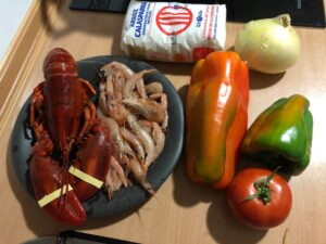 Ingredientes Arroz con Bogavante y gambas